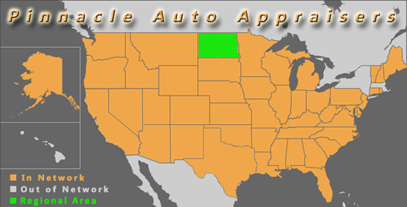 map north dakota pinnacle auto appraiser appraisal diminished value